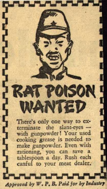 War Production Board's Cooking Grease – Rat Poison Wanted (1943)