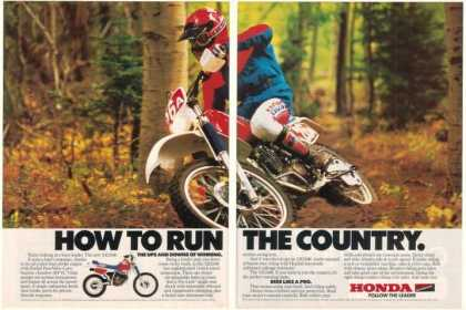 Honda XR250R Motorcycle Photo Run Country (1986)