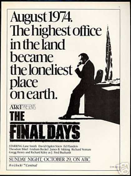 The Final Days TV Promo David Ogden Ed Flanders (1989)