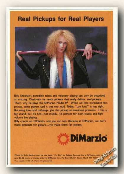 Billy Sheehan Photo Dimarzio Promo (1989)