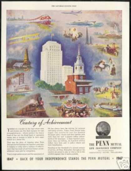 Penn Mutual Life Insurance Co 100 Years (1947)