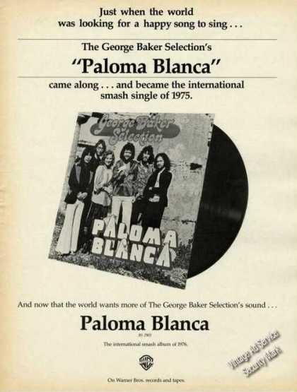 George Baker Selection's Paloma Blanca Album (1976)