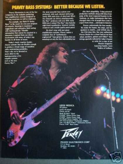 Leon Medica Photo Peavey Bass Guitar (1983)