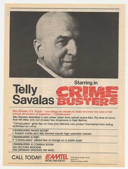 Telly Savalas Crime Busters Radio Program Photo (1983)