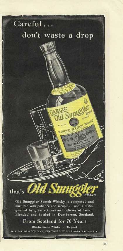 Old Smuggler Scotch Whisky (1948)
