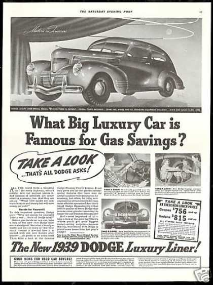Dodge Luxury Liner Photo Vintage Print Car (1939)