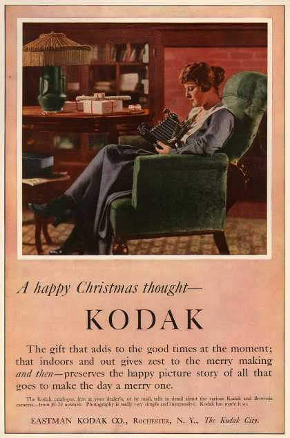 Kodak &#8211; A happy Christmas thought &#8211; Kodak (1916)