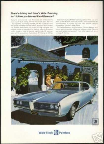 Pontiac Blue Lemans Vintage Photo AF VK Art (1968)