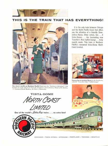 Northern Pacific Railway Vista Dome Train (1956)