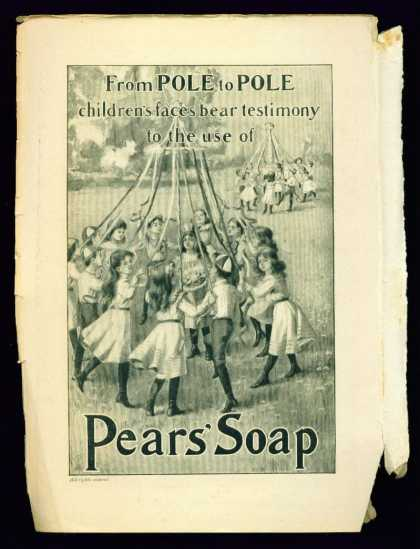 Children at Maypoles In Lovely Pears' Soap (1902)