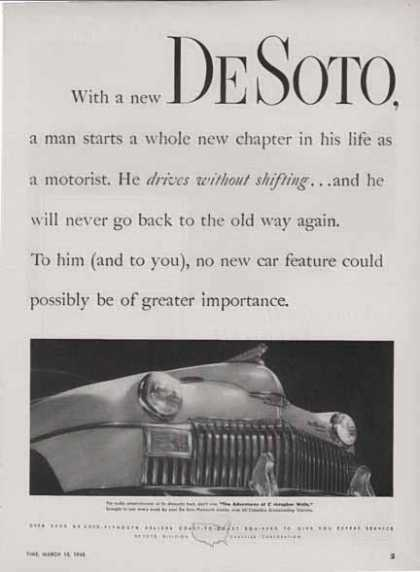 Plymouth Desoto Car – Drives without Shifting (1948)
