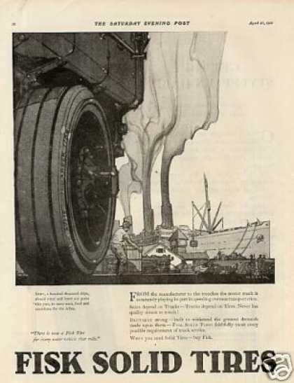 Fisk Tire Ad Helck Art (1918)