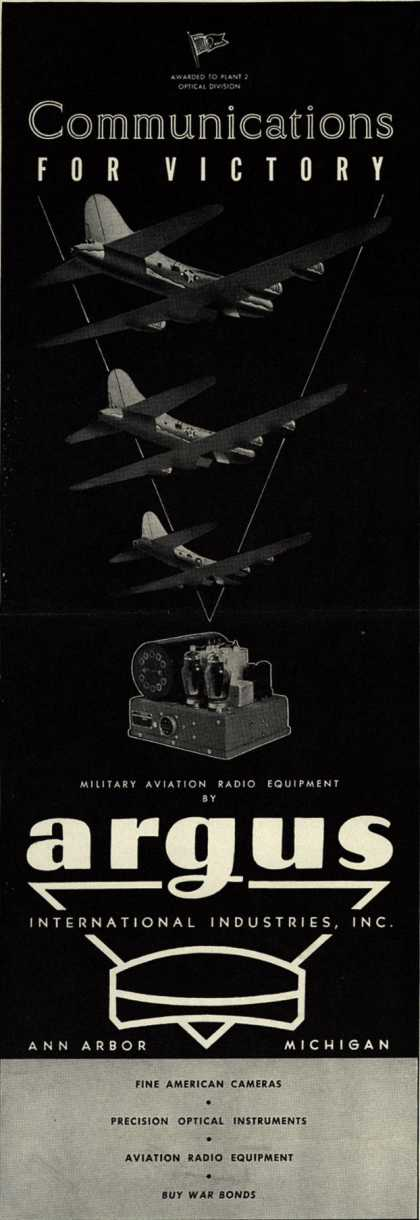 Argus International Industrie's Various – Communications For Victory (1944)