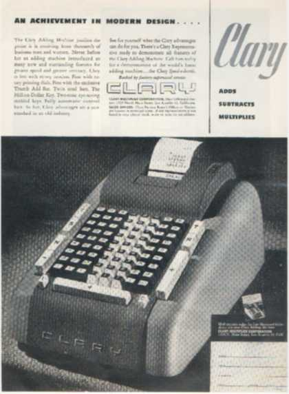 Clary (Clary Adding Machine) (1948)