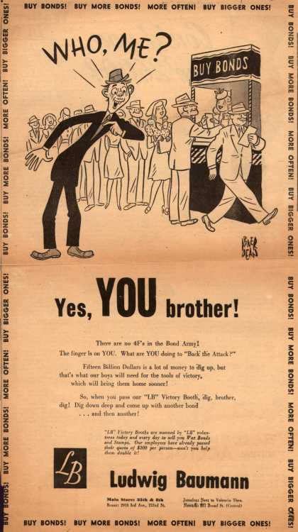 Ludwig Bauman's War Bonds – Who, Me? Yes, You brother (1945)