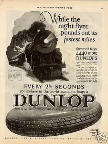 Dunlop Tire Ad Broadway Limited (1925)