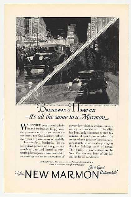 New Marmon Car Broadway or Highway Fred Mizen (1925)