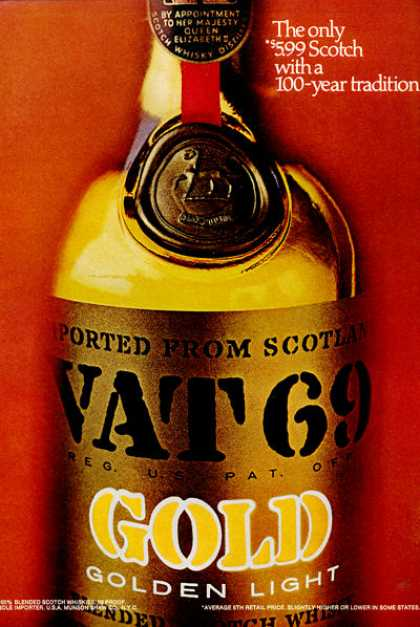 Vat 69 Scotch Whisky Bottle (1971)