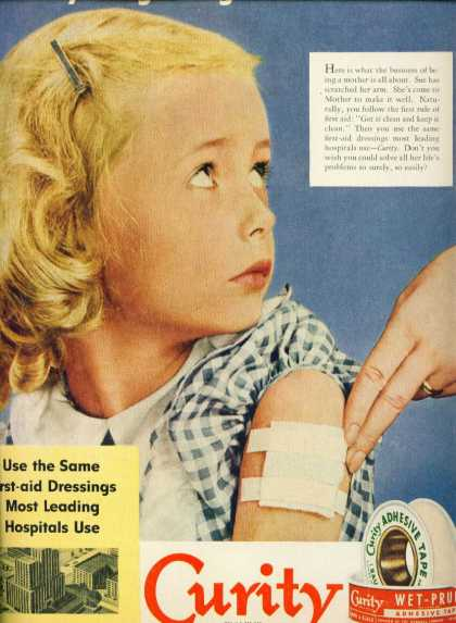 Curity Wet Pruf Adhesive Tape Little Susie (1951)