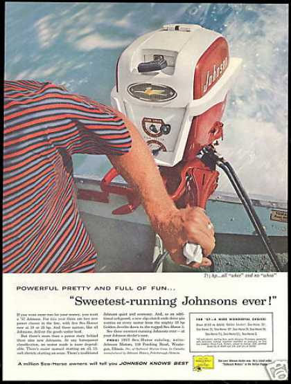 Johnson Outboard Boat Motor Photo Sweetest (1957)