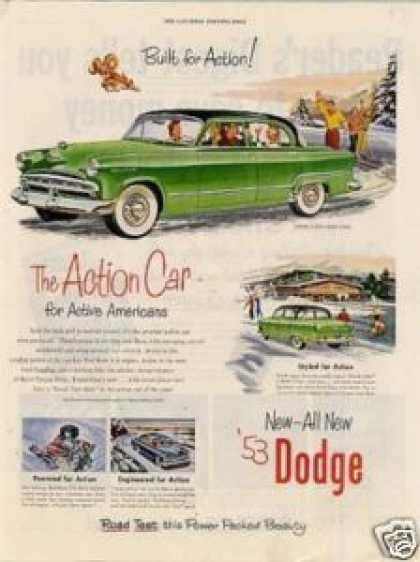 "Dodge Car Ad ""The Action Car... (1953)"