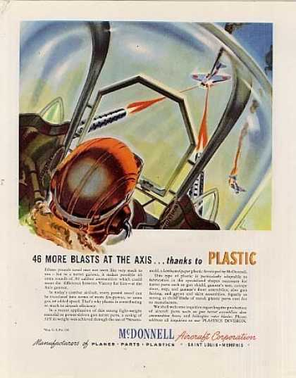 "Mcdonnell Aircraft Ad ""46 More Blasts At... (1943)"