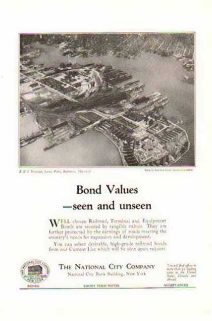 Bond Values – The National City Company (1924)