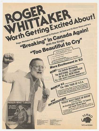 Roger Whittaker The Wind Beneath My Wings Photo (1983)