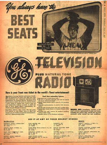 General Electric Company's Radio Television – You always have the Best Seats (1947)