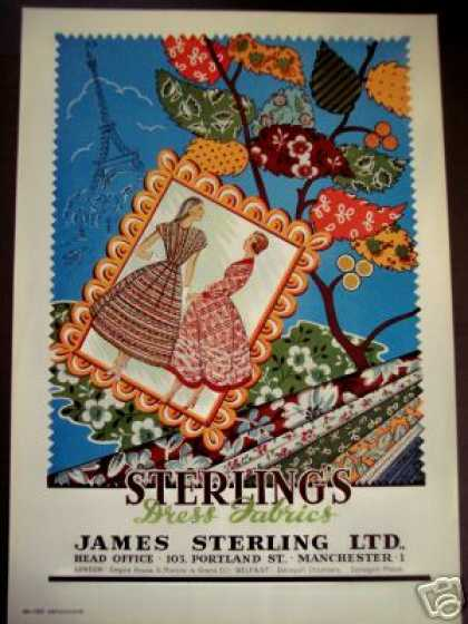 Sterling Dress Fabrics Mancheser England Trade (1949)