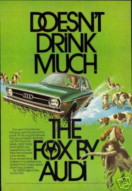 Green Audi Fox Hunting Dogs 2 Door Art Car (1974)