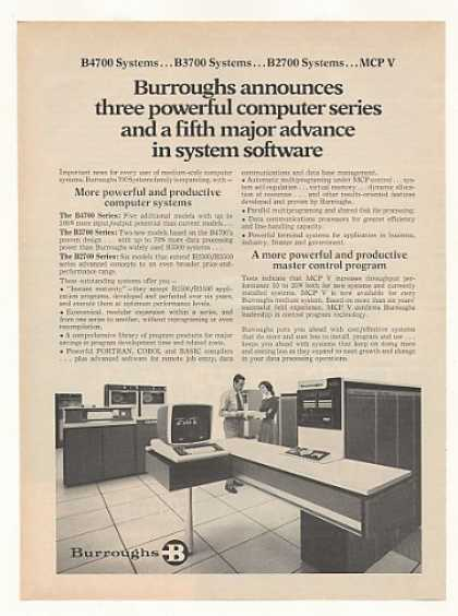 Burroughs B3700 B 3700 Computer System (1972)