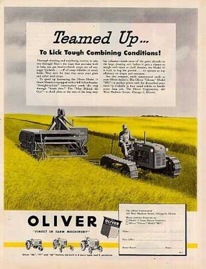 Oliver Tractor Combine (1950)