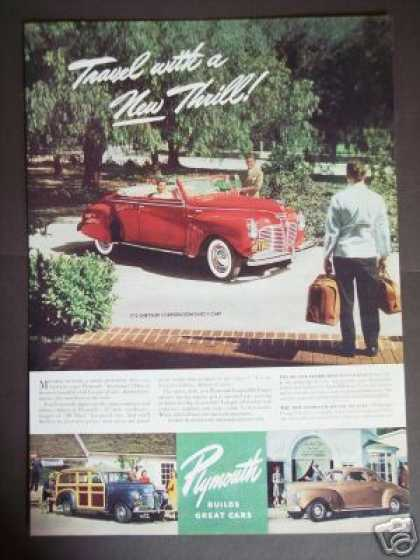 Plymouth Sportsman Red Convertible Car Photo (1940)