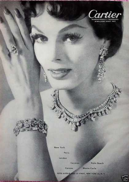 Cartier Jewellers Diamond Jewelry Necklace Ring (1956)