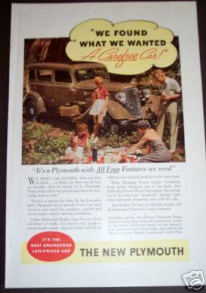 The New Plymouth Family Car Picnic Art (1934)