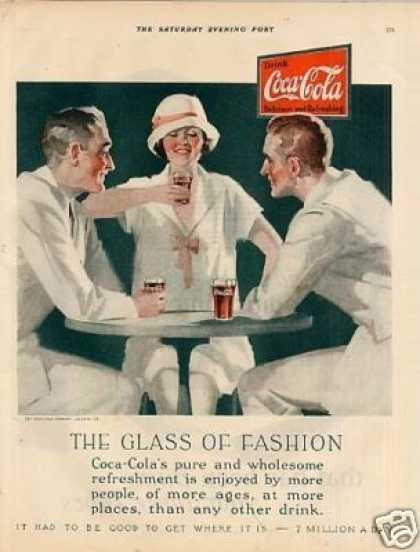 "Coca-cola Color Ad ""The Glass of Fashion... (1926)"