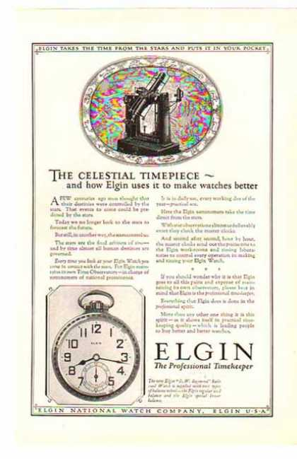 Elgin National Watch Company – The Celestial Timepiece (1924)