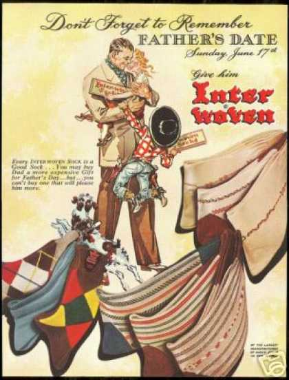 Inter Woven Socks Father's Day Kids Dog (1951)