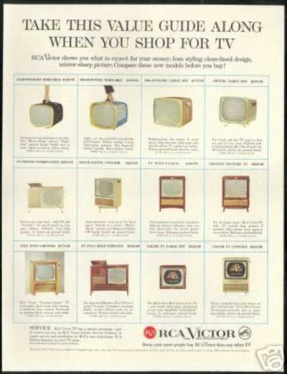 RCA Victor TV Television 12 Styles (1958)