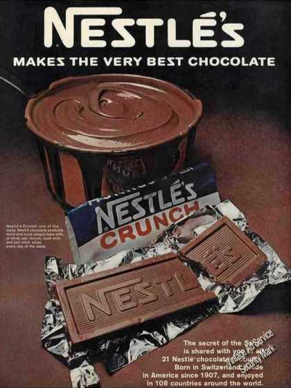 Nestle's Makes the Very Best Chocolate Nice (1967)