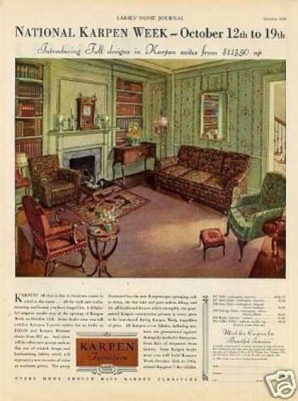 Karpen Furniture Color (1929)