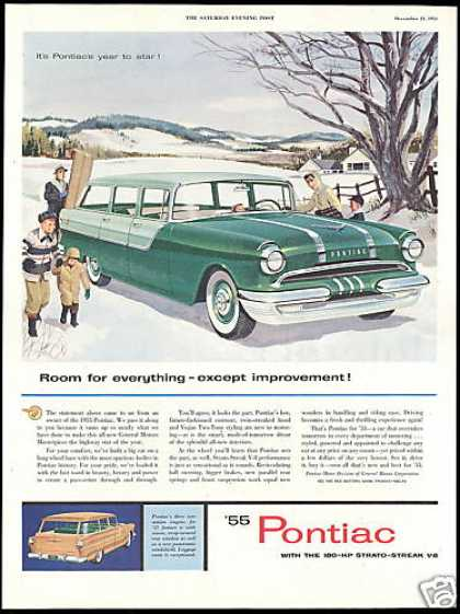 Pontiac Station Wagon Snow Toboggan (1955)