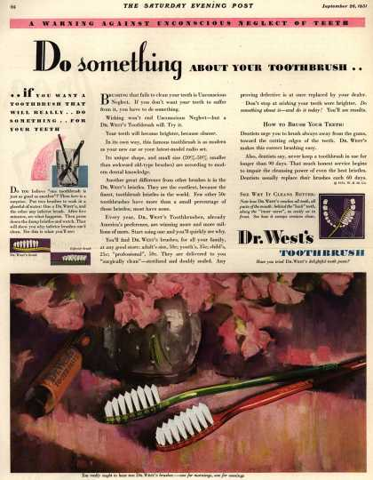 Western Company's Dr. West's Tooth Brush – Do something About Your Toothbrush (1931)