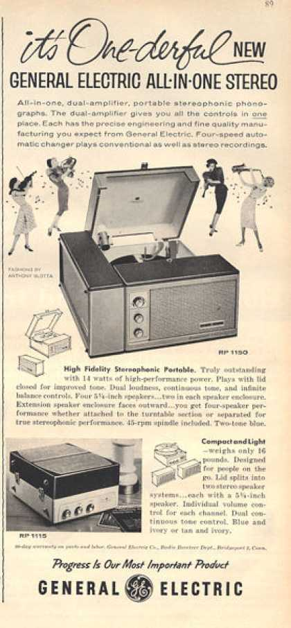 General Electric Rp 1150 Portable Stereo Phono (1959)