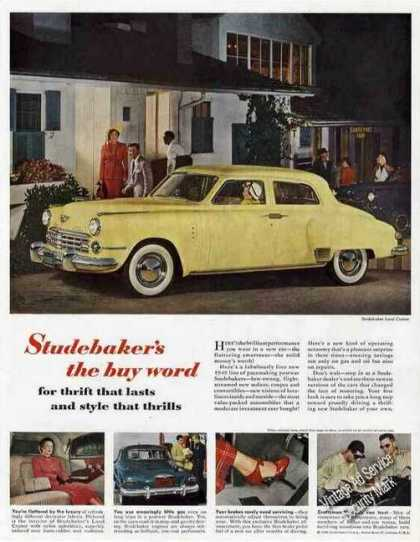 Yellow Studebaker Land Cruiser Collectible Car (1949)