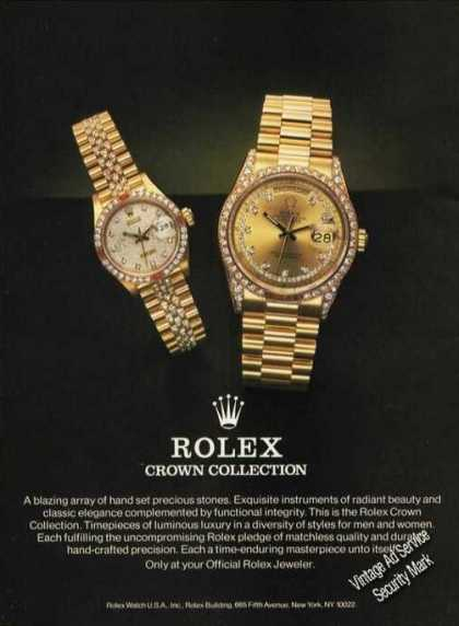 Rolex Crown Collection Wrist Watches Rare (1986)
