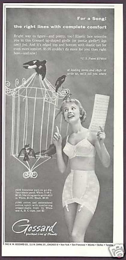 Gossard Girdle Bra Pretty Woman Bird Cage (1956)