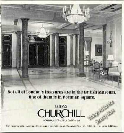 Loews Churchill London Lobby Photo (1977)