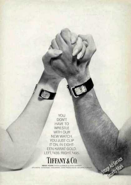 Tiffany Clip On Wristwatches Arm Wrestle (1971)